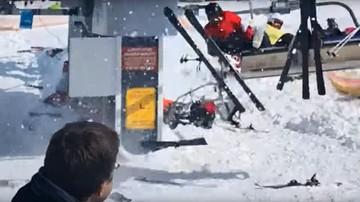 Groźna awaria wyciągu narciarskiego w Gruzji. Turyści spadali z krzesełek, ponad 10 osób rannych