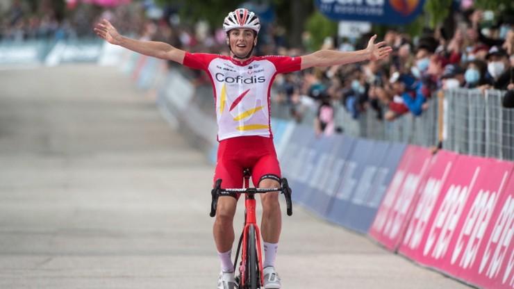 Giro d'Italia: Victor Lafay wygrał etap. Caleb Ewan zrezygnował z jazdy