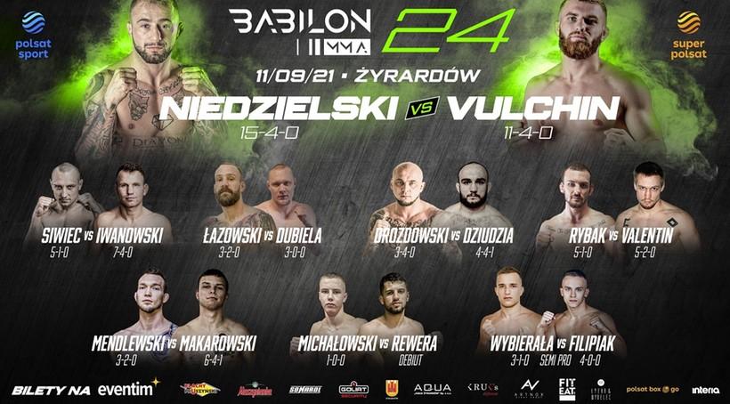 Babilon MMA 24: Ceremonia ważenia. Transmisja TV i stream online