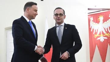 Szef MSZ Niemiec w Polsce. Rozpoczęło się spotkanie z prezydentem Dudą