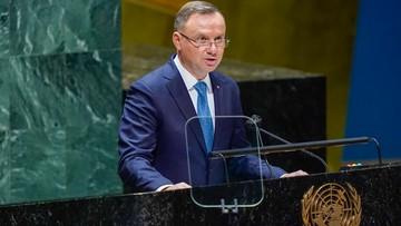 Mocne wystąpienie Dudy na sesji ONZ. Padło wiele ważnych słów
