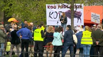 KOD przeciw inwigilacji. Protest przed Kancelarią Premiera