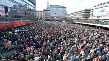 Drugie aresztowanie ws. zamachu w Sztokholmie. W mieście manifestacja solidarności z rodzinami ofiar