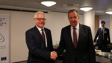 Czaputowicz spotkał się z Ławrowem. Rozmawiali o wraku tupolewa i Ukrainie