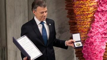 """""""Na świecie jest o jedną wojnę mniej"""". Prezydent Kolumbii odebrał pokojowego Nobla"""