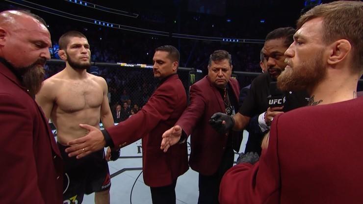 UFC: McGregor i Khabib zawieszeni! Rosjanin już nieco bogatszy...