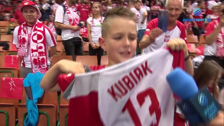 Michał Kubiak doprowadził do łez młodego fana i... Andrzeja Wronę