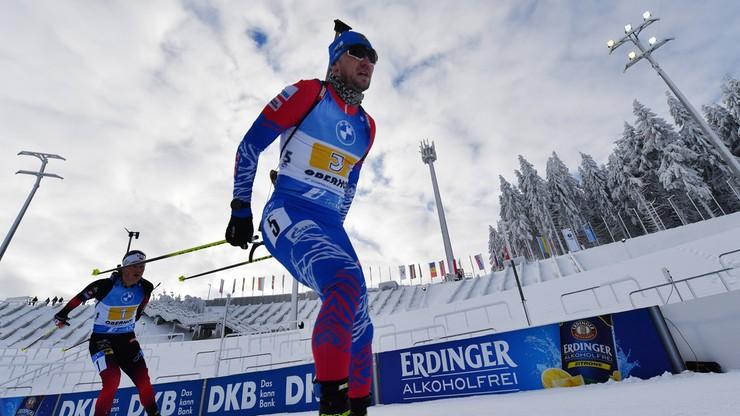 PŚ w biathlonie: Aleksander Łoginow wygrał w Anterselvie. Punkt Andrzeja Nędzy-Kubińca