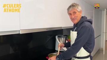 Trener Barcelony zamienił się w kucharza
