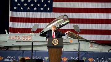 """Trump zapowiada lot na Marsa i powstanie amerykańskich """"sił kosmicznych"""""""