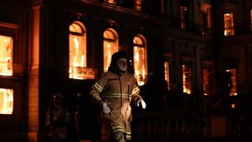 Brazylia: spłonęło 90 procent eksponatów w pożarze Muzeum Narodowego w Rio de Janeiro