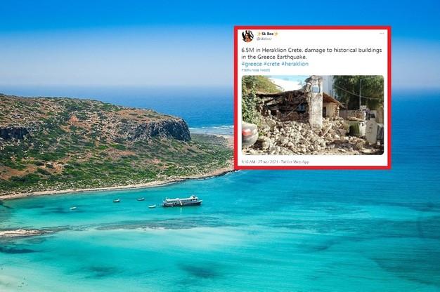 Grecja. Kretę nawiedziło trzęsienie ziemi o magnitudzie 6,5 i 4,8. Znaleziono ofiarę