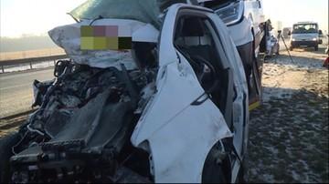 Zderzenie czterech aut na A1 w Kujawsko-Pomorskiem. Trasa częściowo zablokowana