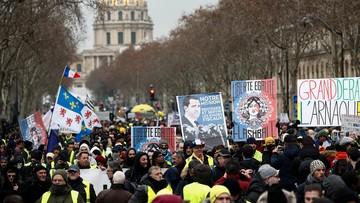 """Dziesiąty z rzędu protest """"żółtych kamizelek"""". """"Macron do dymisji"""""""