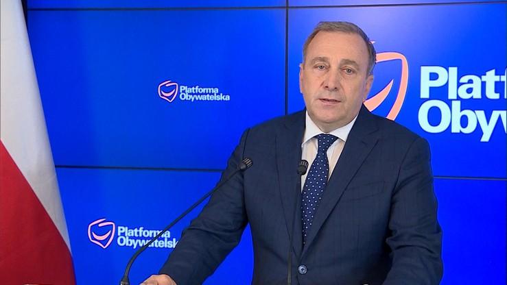 Schetyna: opozycji wystawiam ocenę trzy z plusem; było trzy minus, poprawiamy się