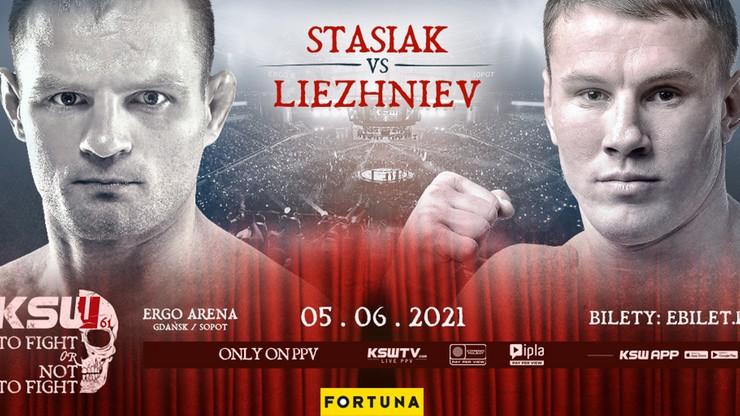 KSW 61: Damian Stasiak kontra Andreii Liezhniev