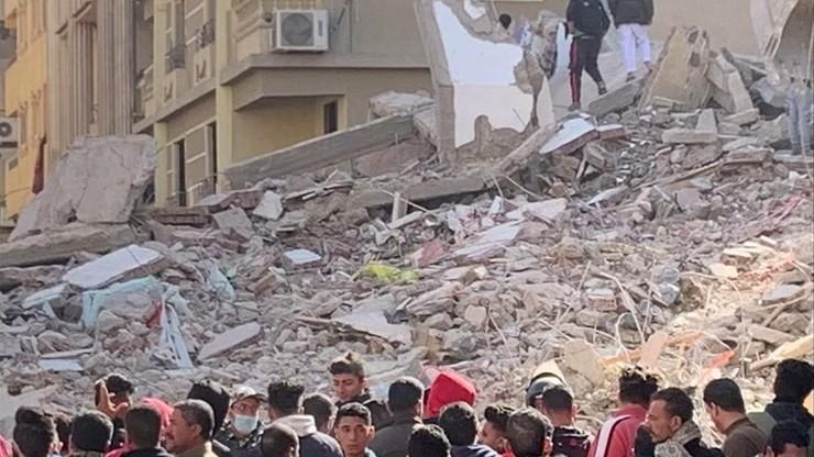 Katastrofa budowlana w Kairze. Zawalił się 9-piętrowy blok, zginęło 18 osób