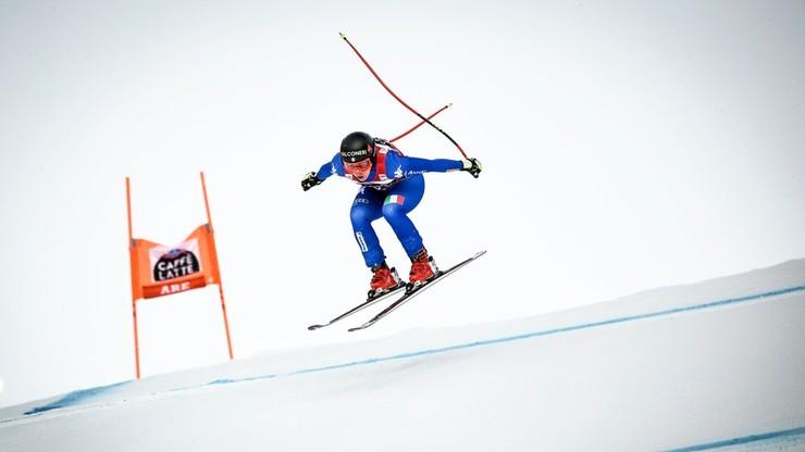Alpejski PŚ: Goggia wygrała supergigant różnicą 0,01 sekundy
