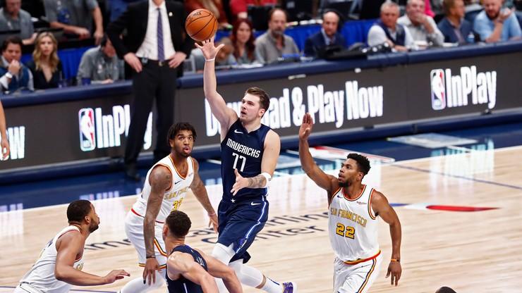 NBA: Doncic z kolejnym triple-double, Mavericks rozbili Warriors