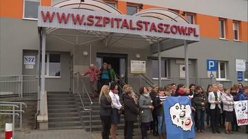 """""""Zostałyśmy zlekceważone"""". Pielęgniarki ze szpitala w Staszowie w środę wznawiają protest"""