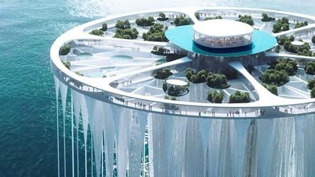 To nie film science-fiction, tylko futurystyczna wyspa widokowa w Chinach