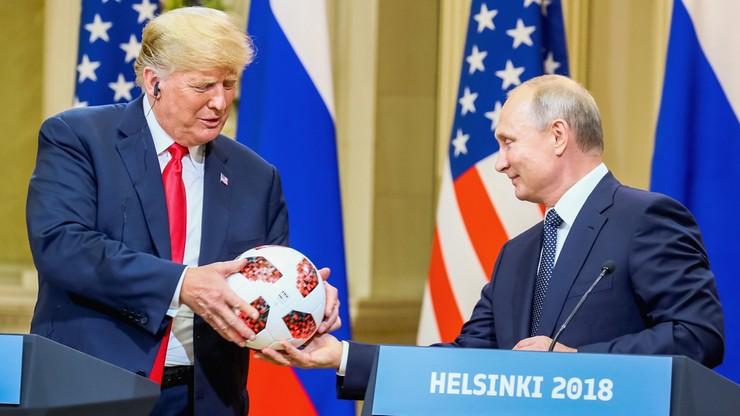 MŚ 2018: Putin podarował Trumpowi piłkę z finału mundialu
