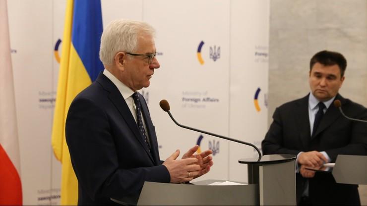 Czaputowicz w Kijowie: Polska uznaje za niezbędne wzmocnienie sankcji wobec Rosji