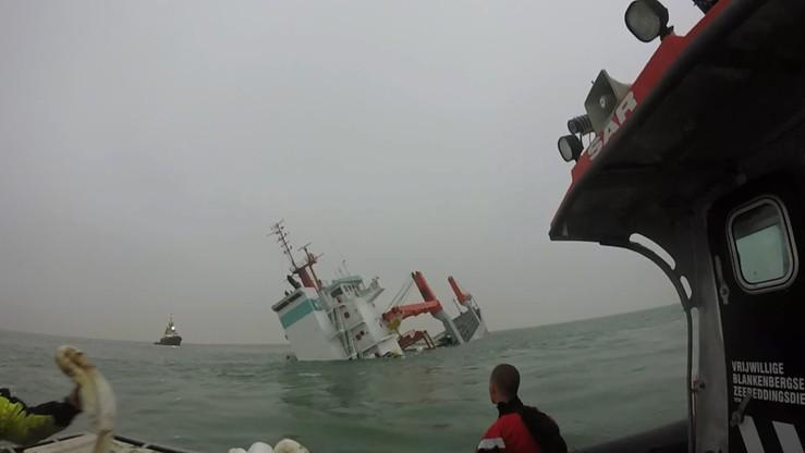 Zatonął holenderski frachtowiec. Załoga uratowana