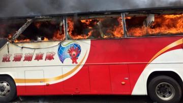 Tajwan: autokar w płomieniach. 26 ofiar śmiertelnych