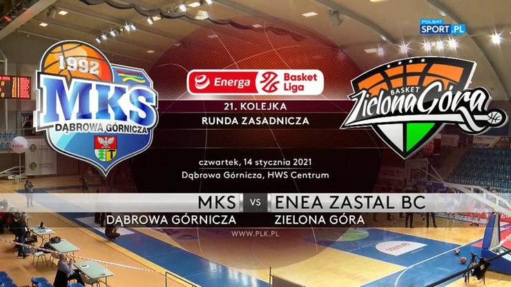 MKS Dąbrowa Górnicza - Enea Zastal BC Zielona Góra 69:97. Skrót meczu