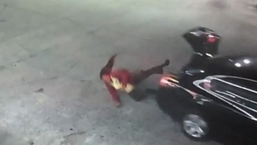 Uprowadzona kobieta uciekła z bagażnika samochodu [NAGRANIE]