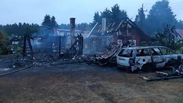 Pożar domku letniskowego. Dwie osoby nie żyją