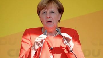 Spotkanie Merkel z Junckerem. Kanclerz zapowiadała, że jednym z tematów ma być sytuacja w Polsce