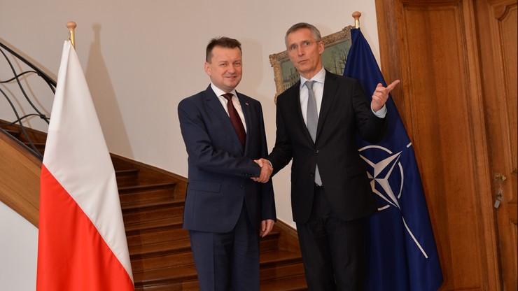 """Błaszczak spotkał się z szefem NATO. """"Jestem zbudowany tymi rozmowami"""""""