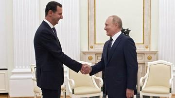 """Putin spotkał się z Asadem. """"Obce siły w Syrii są nielegalne"""""""