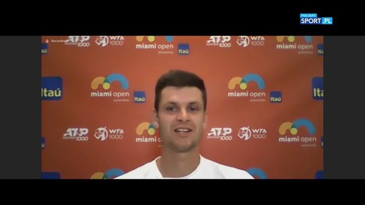 Hubert Hurkacz: Stać mnie na lepsze mecze niż z Andriejem Rublowem