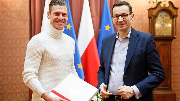 """""""»Piszczu«, jeszcze raz dziękujemy"""". Premier Morawiecki spotkał się z Łukaszem Piszczkiem"""