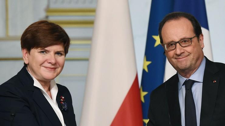 Szydło i Hollande rozmawiali o imigrantach, Wielkiej Brytanii i Szczycie NATO