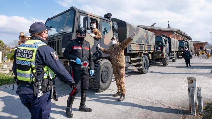 Włoskie wojsko wywozi z Bergamo kolejne ciała