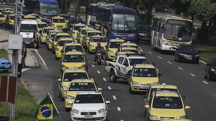Rio: protest taksówkarzy przeciw Uberowi sparaliżował miasto