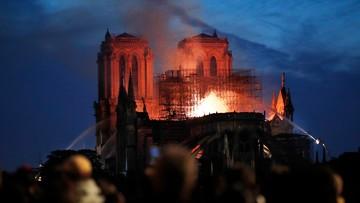 """Świat o pożarze Notre Dame. """"Rozdzierające serce sceny"""""""