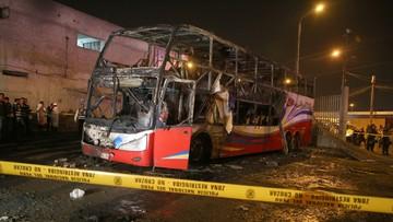 Pożar autobusu w Peru. Nie żyje co najmniej 20 osób