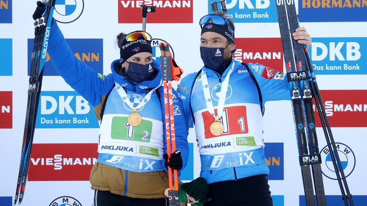 MŚ w biathlonie: Francuzi najlepsi w supermikście, Polacy daleko