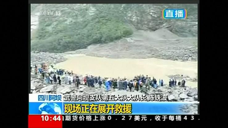 Lawina błotna pochłonęła całą chińską wieś. Co najmniej stu zabitych