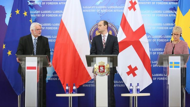 """Szef MSZ z wizytą w Tbilisi. """"Polska nigdy nie zaakceptuje naruszania granic Gruzji"""""""