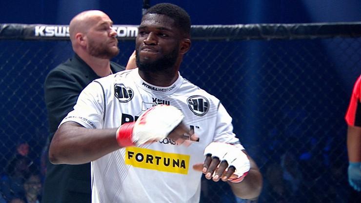 KSW 54: Izu Ugonoh zwycięski w debiucie w MMA (WIDEO)