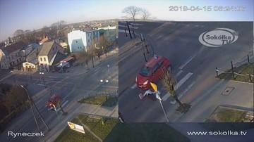 Auto nauki jazdy uderzyło w seniorkę na pasach w Sokółce