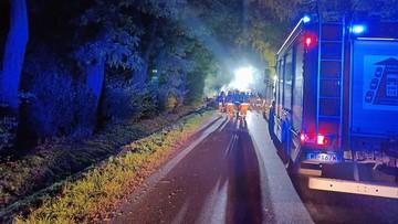 Tragiczny wypadek na Mazowszu. Spłonęło czworo nastolatków