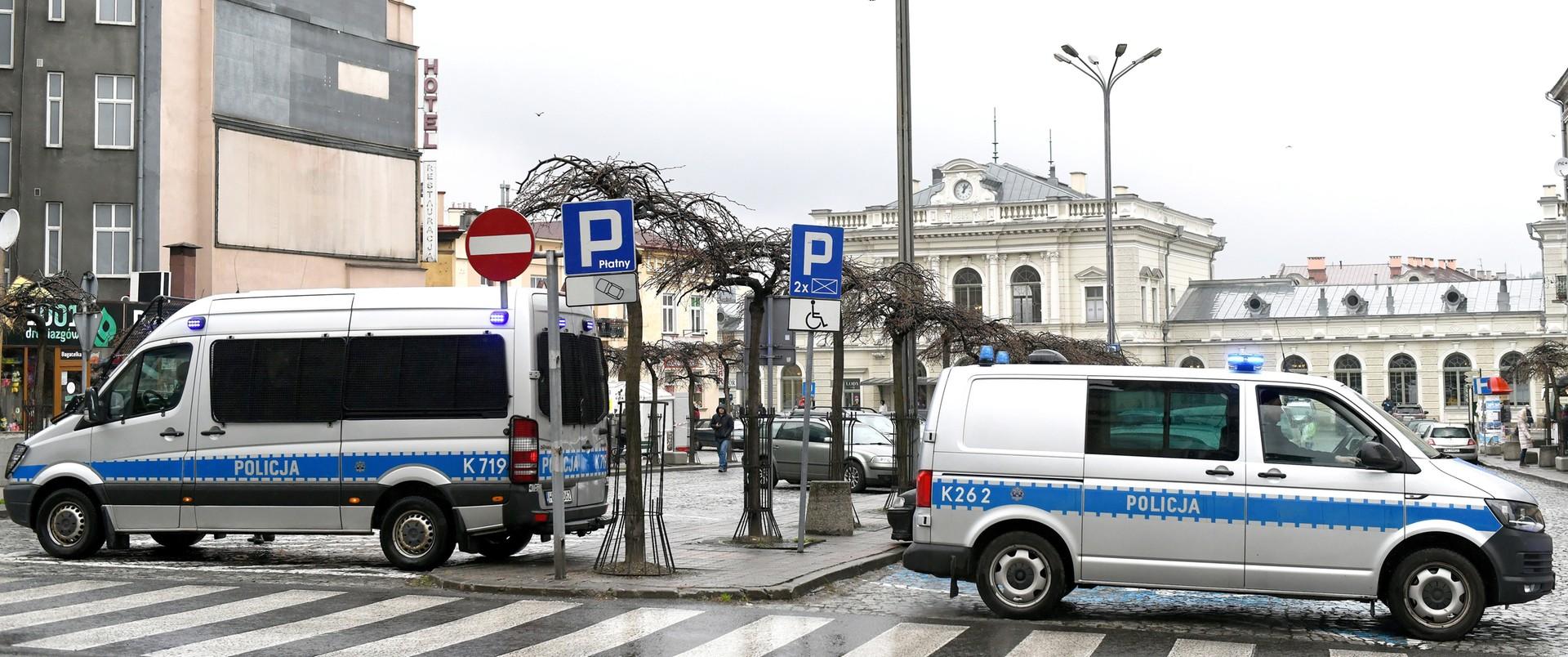 Patrole policji w centrum Przemyśla