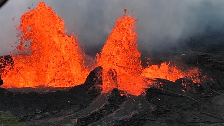Kolejne erupcje wulkanu na Hawajach